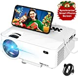 Mini Projector, TOPVISION Projector with Synchronize Smart Phone Screen,1080P Supported, 176'...