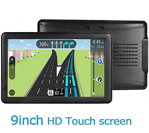 GPS Navigation for car, 9 inch HD GPS Navigation 256-8GB Voice Broadcast Navigation, top-Loading North America map (USA, Canada, Mexico map) Lifetime map Free Update