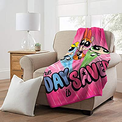 Cartoon Network Micro Raschel Throw Blanket Powerpuff Girls, Day Saved, 46