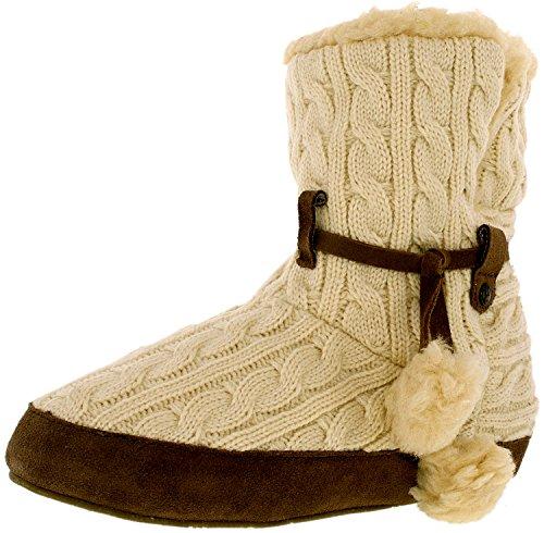 Bearpaw Women's Trista Slipper, Linen, Size 7.0 (Womens Bearpaw Slippers)