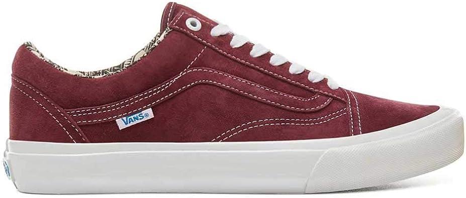 Vans Old Skool Pro Ray Barbee OG Burgunty Chaussures Rouge