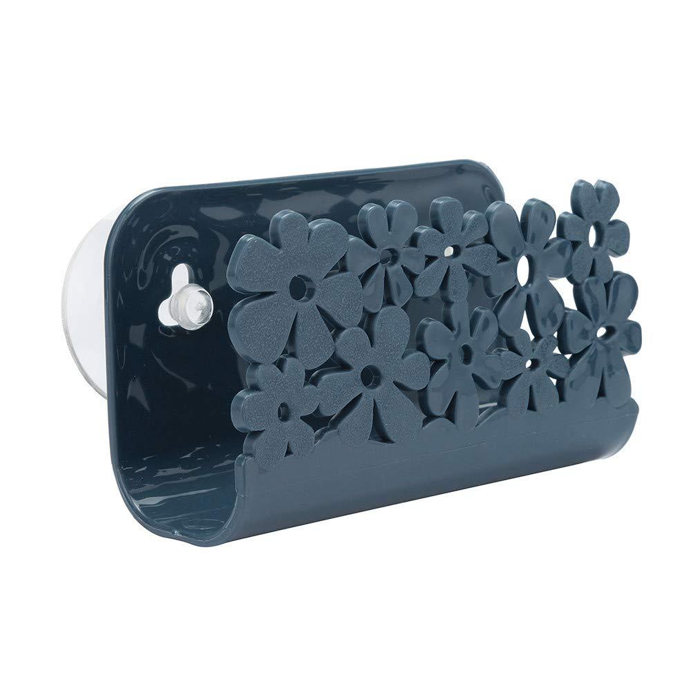 Connia Dish Cloths Rack Suction Sponge Holder Clip Rag Storage Rack Tools for Kitchen Convenient (Navy)