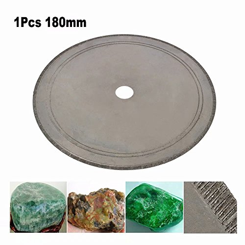7 inch 180mm Super Thin Diamond Lapidary Saw Blade Cutting Disc for Gem, Crystal, Jade, Glass, Cutting and Processing