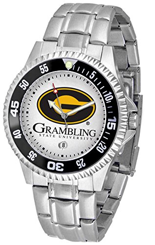 State Tigers Steel Sport Watch (Grambling State Tigers Competitor Men's Watch with Steel Band)