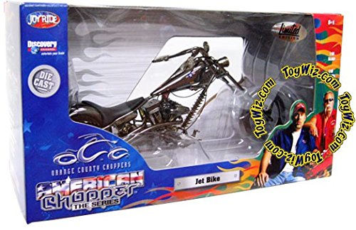 OCC ORANGE COUNTY CHOPPERS AMERICAN CHOPPER THE SERIES SILVER JET BIKE CUSTOM CHOPPER 1:10 DIECAST