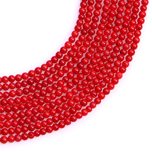 Red Coral Beads for Jewelry Making Gemstone Semi Precious 2mm Round 15