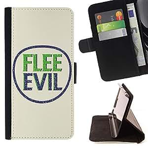 Momo Phone Case / Flip Funda de Cuero Case Cover - BIBLIA Huye Evil; - Samsung Galaxy S6 Active G890A