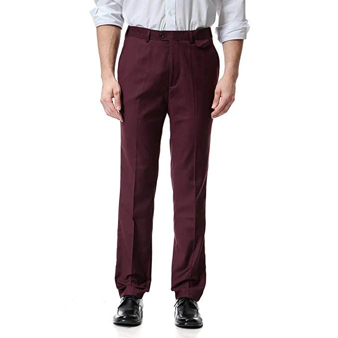 5836161a1d6ce Ms lily Men's Business Suit Pants Casual Pants(Red-4X-Large) at ...