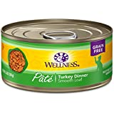 Wellness Natural Grain Free Wet Canned Cat Food, T...