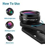AMIR Phone Camera Lens, 230°Fisheye Lens, 0.65X