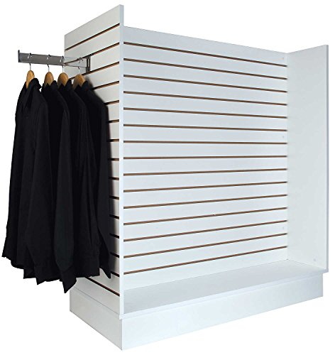 Econoco Gondola Slatwall Merchandiser, White by Econoco