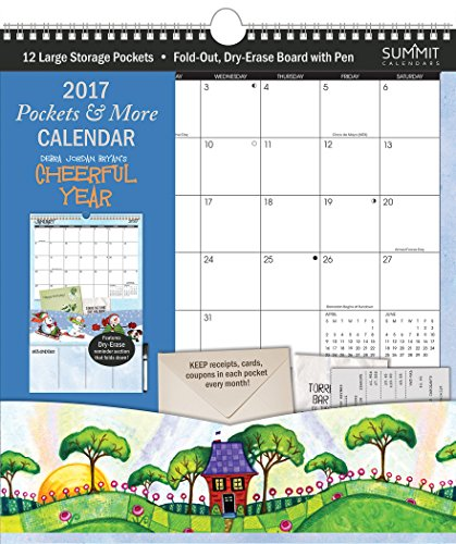Summit 2017 Calendar Pockets and More Cheerful Year By Debra Jordan Bryan  (90497)