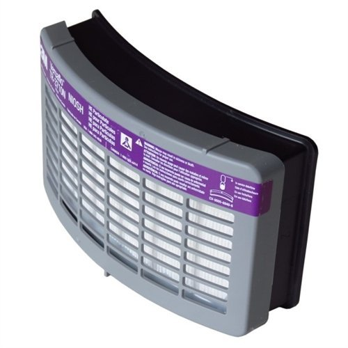 3M TR-3712N-40 Versaflo TR-3712N Replacement HE Filter for Use with TR-300 Series PAPR, Plastic, 1