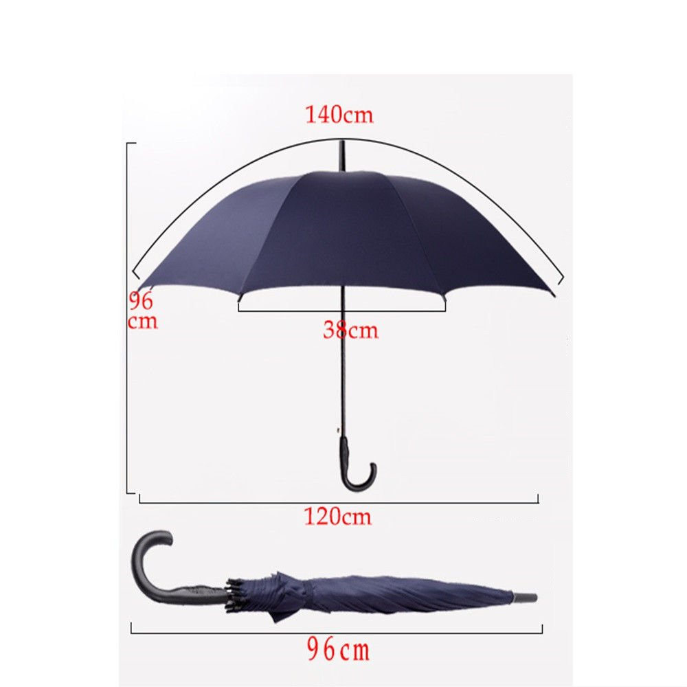 Guoke Straight Shank Long Handle, Two Men And Women Fine Rain Umbrella With Automatic Double Umbrella, 10, Purple by Guoke (Image #2)