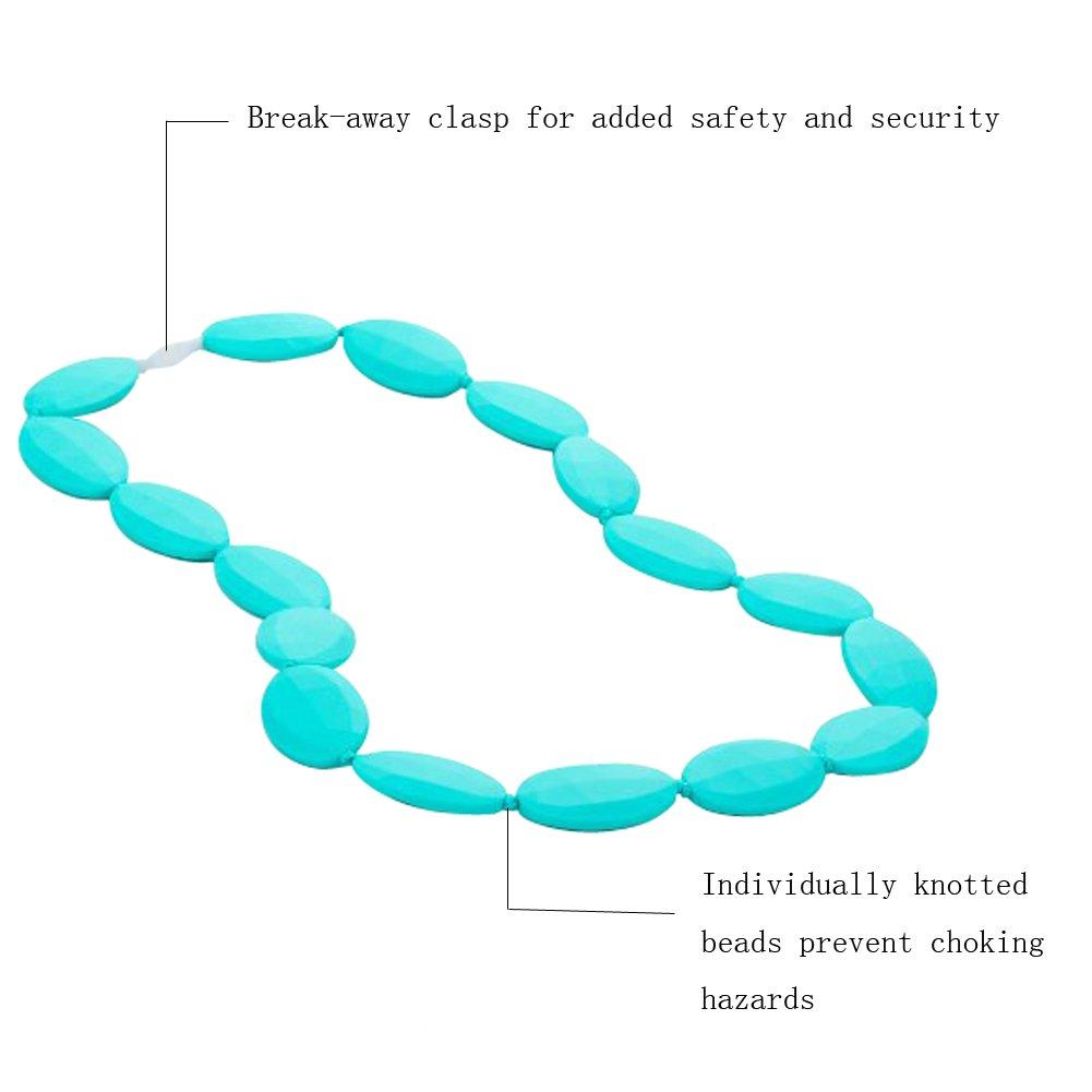 超熱 Classic Teething Necklace FDA Necklace Approved Silicone Silicone Jewelry by Baby Teethers Baby Chew Necklace Silicone Beads for Mom to Wear and Bracelet/Bangle (Turquoise) by TABaby B01IIH8AKS, Ari shop:5430001a --- a0267596.xsph.ru