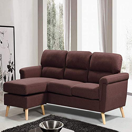 Amazon.com: Modern Upholstered Small Space Reversible ...