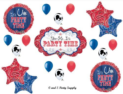 WESTERN BANDANA MARQUEE Birthday PARTY Hoedown Rodeo Balloons Decorations Supplies Horse Cow by Anagram by Anagram (Image #1)