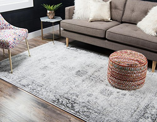 Decoration ideas. Unique Loom Sofia Collection Traditional Vintage Gray Area Rug (5' x 8')