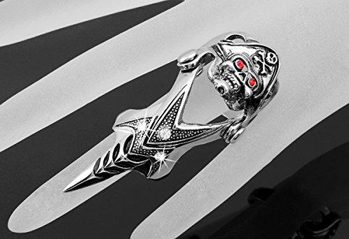 Skyllc® Pirate demone Spike armatura della roccia punk gotici Dichiarazione di barretta Anelli