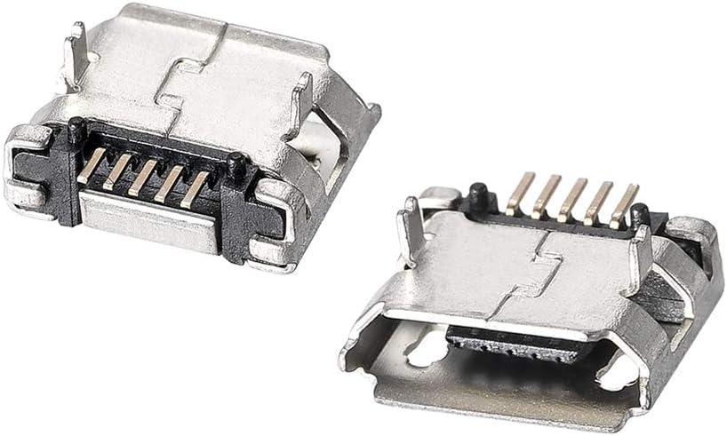 20pcs Micro USB 5pin B Type Female Connector Jack Charging Socket HI