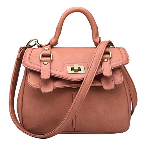 Leather Bag Women's Brown Vintage handle Top Yiji Tote Shoulder 0RCqq