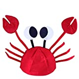 SOIMISS Halloween Funny Hats Crab Hat Cap Party Decra Cosplay Costumes for Easter Halloween Christmas Performance Party