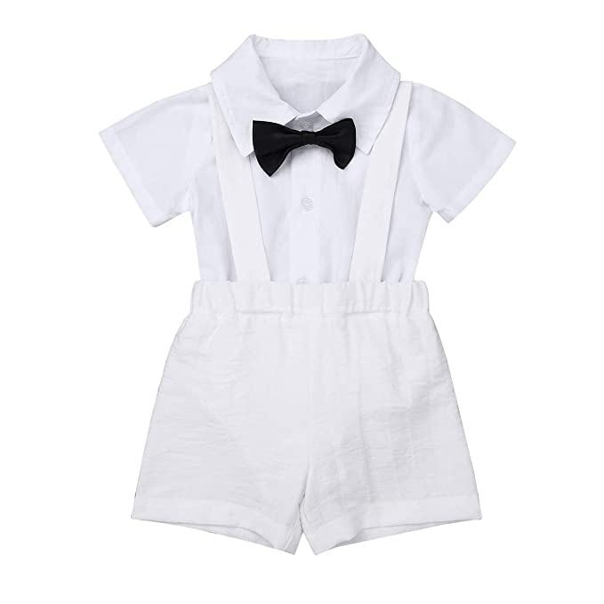 Amazon.com: Agoky Baby Boys White Formal Wedding Christening ...