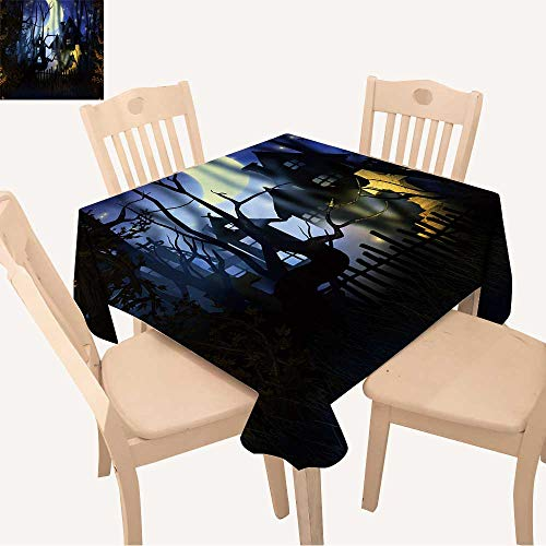 UHOO2018 Polyester Fabric Tablecloth Square/Rectangle Premade Halloween Backdrop Summer & Outdoor Picnics,23 x 23inch -
