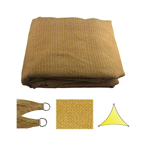 LIANGJUN Shading Net Shade Sails Sunblock Triangle UV Block Weave Durable Terrace Outdoor Activities - Sand Color (Color : Beige, Size : 3X3X3M) ()