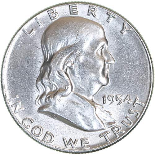 1954 Franklin Half Dollar 90% Silver Uncirculated ()