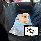 The Ultimate Waterproof Non-slip Pet Seat Cover Dog Hammock and Soft Gray Washable Fleece Dog Mat - 2 Piece Set - 58