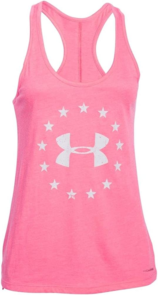 Under Armour Womens Charged Cotton Tri-Blend Freedom Tank