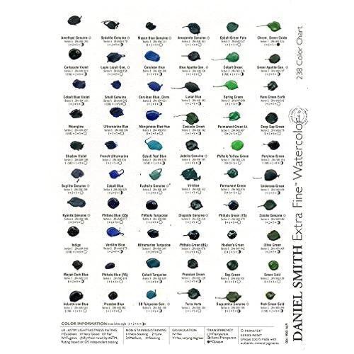 Outlet Daniel Smith Watercolor 238 Dot Color Chart Www