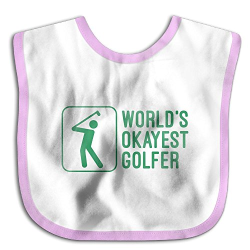 Safe Cotton Kids Lunch Bibs Okayest Golfer Baby Saliva Towel Cute Feeding Snap
