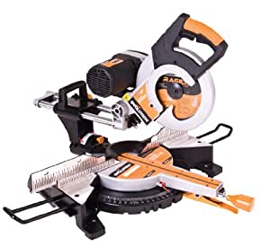 Evolution Power Tools RAGE 3-DB 10-Inch TCT Multipurpose Cutting Double Bevel Compound Sliding Miter Saw