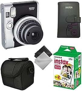 Fujifilm Instax Mini 90 Neo Classic Instant Film Camera (Black/Silver) 5 pc Kit