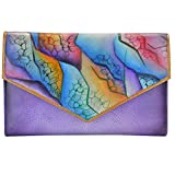 quest check - Anuschka Women's Handpainted Leather Check Book Wallet Checkbook Cover, Cosmic Quest, One Size