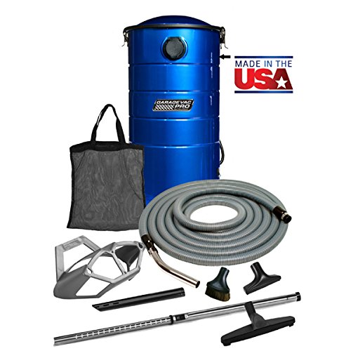 Garage Vacuum Cleaner (VacuMaid GV50BPRO Professional Wall Mounted Garage and Car Vacuum with 50 ft. Hose and Tools)