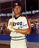 Ray Knight Autographed Photograph - Astros w bat 8X10 Color BE Hologram - Autographed MLB Photos