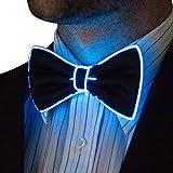 Neon Nightlife Light Up Bow Tie for Men, Blue