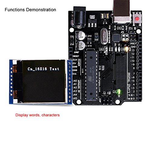 MakerFocus TFT LCD Screen 1.44 inches TFT LCD Module, 128x128 SPI, Picture Graphic Color Screen, 51 STM32 Arduino Routines to Replace 5110 OLED 5V for Arduino by MakerFocus (Image #4)