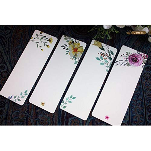 askdasu DIY Nachricht Karte blanko elegantem Muster Blume DIY Lesezeichen Geschenkanh/änger 40/St/ück