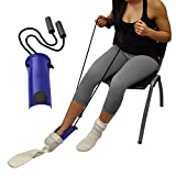 Fencia Sock Stocking Aid with Foam Grip 33in Cord Puller Assist Disability Elderly Too (Blue)