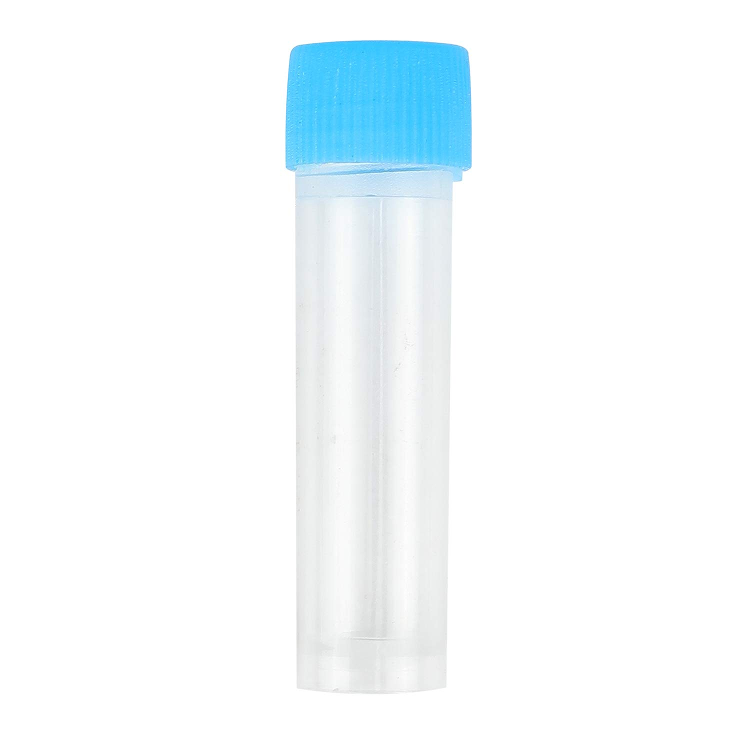 4ml Z-COLOR 50pcs Chemistry Plastic Test Tubes Vials Seal Caps Pack Container for Office School Chemistry Supplies