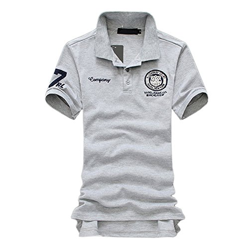 SHEYA ポロシャツ メンズ 半袖 ボタンダウン 胸刺繍 スポーツ ウェア ゴルフウェア メンズ ポロシャツ 白 夏