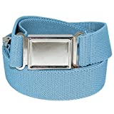 Jackster Elastic Adjustable One Size Belt w/ Magnetic Metal Buckle (Pastel Blue)