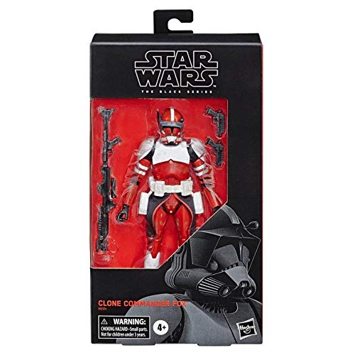 HASBO Star Wars: The Clone Wars Clone Commander Fox The Black Series Figure (2019)