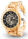 LAiMER Automatic Men's Wooden Watch RICK - Wrist Watch made of natural Olive Wood - Technique, Nature & Lifestyle