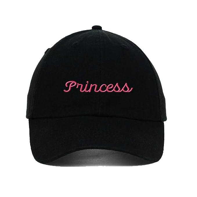 08e430ac0cf Amazon.com  Speedy Pros Princess Embroidery Twill Cotton 6 Panel Low ...