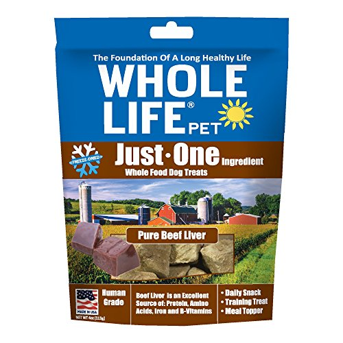 Whole Life Freeze Dried Dog Treats, Beef Liver, 4 Oz.